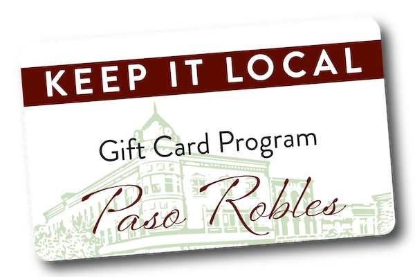 'Keep it Local' Paso Robles gift cards now available