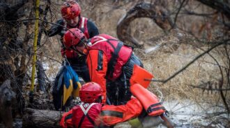 Photos of river rescue by Brandon Stier
