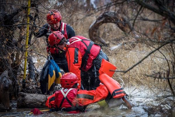 Photos of river rescue by Brandon Stier