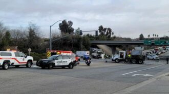 Accident on Highway 46 east paso robles