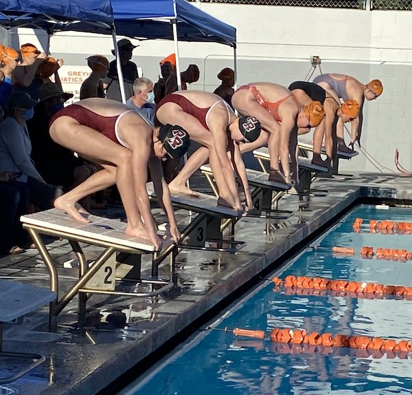 Paso Robles swims against Atascadero High School