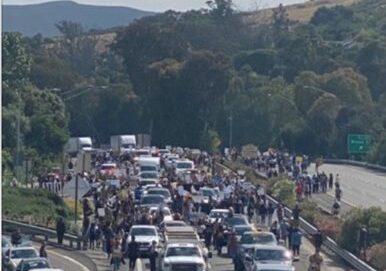 freeway protest san luis obispo