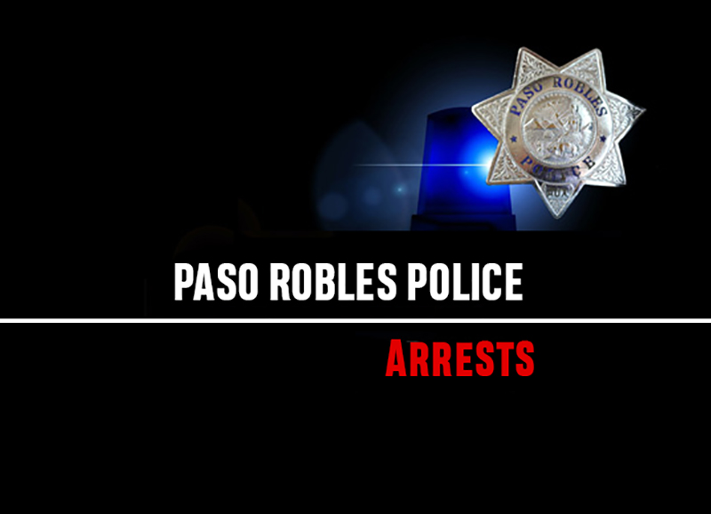 paso robles police arrests