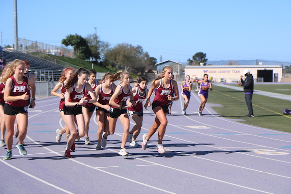 Bearcats track teams competes against Righetti