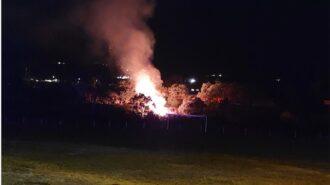 Fire near larry moore park