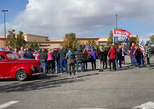 Maga trump supporters in Paso Robles