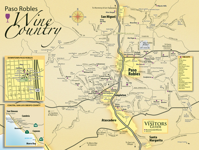 Paso Robles Wine Tasting Map 2021