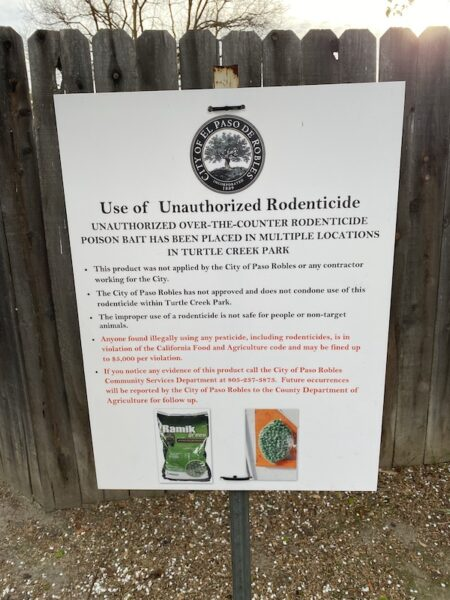Sign Rodenticide