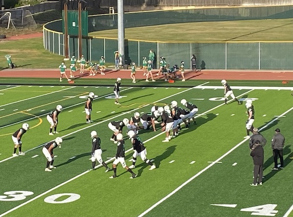 Knights warm up on new field
