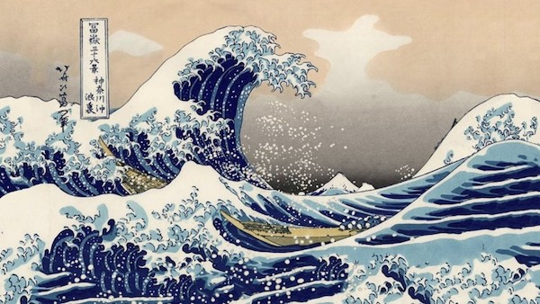 Great Wave embroidery