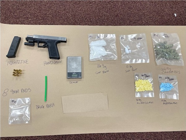 Man arrested in Paso Robles on multiple drugs and weapons charges