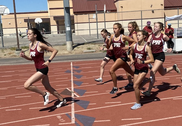 Start of girls 800 track meet paso robles