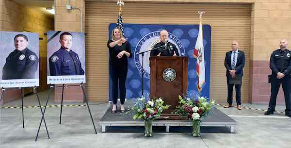 Update- Luca Benedetti identified as officer shot and killed in San Luis Obispo