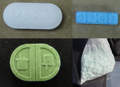 Acetaminophen with Fentanyl, Xanax, Ecstasy and Oxycodone