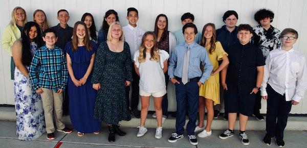 Almond Acres flagship class celebrates eighth grade promotion