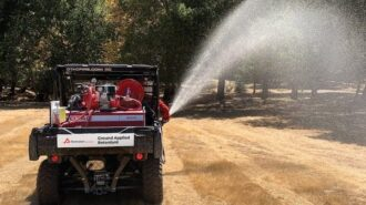 New fire retardant sprayed along roads near Lake Nacimiento