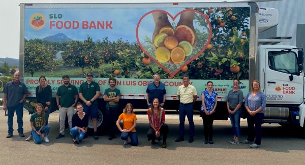 SLO Food Bank Team with Truck
