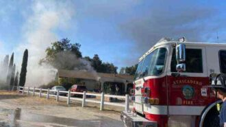Structure fire reported in Atascadero Sunday