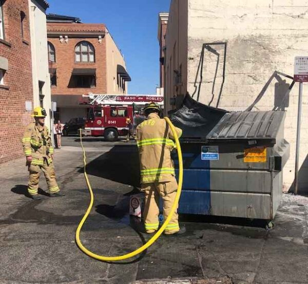 dumpster fire paso robles