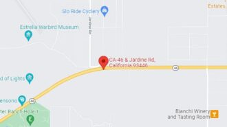map of accident highway 46 paso robles