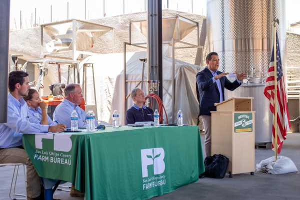 Insurance Commissioner Lara speaks at Booker Winery in Paso Robles at Farm Bureau event on June 14_2021[14090]