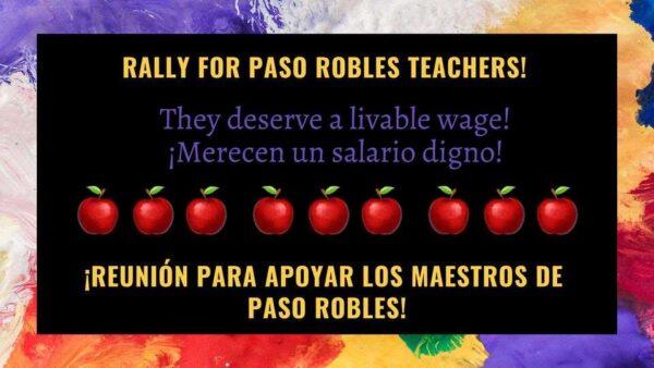 rally for teachers