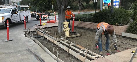 workers in downtown slo